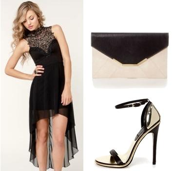 Black Lace Short Formal Dresses