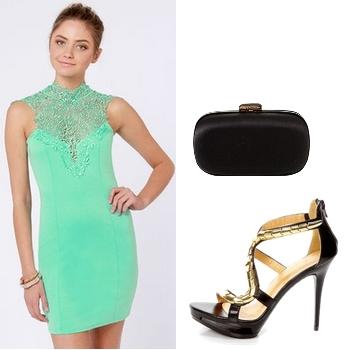 Lace Mint Green Dress