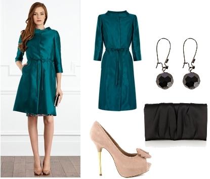 NANETTE Wedding Coat Emerald Green