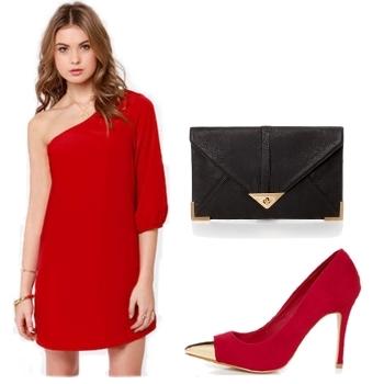 One Shoulder Red Formal Dresses