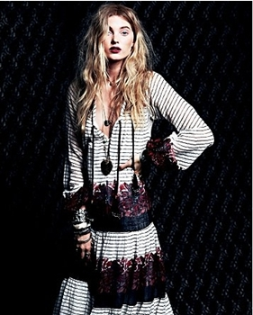 Solene Maxi Dress Dark Rose Free People