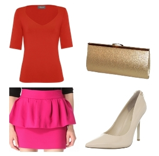 how to wear a bright skirt - pink