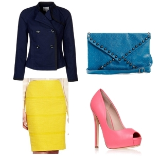 how to wear a bright skirt - yellow