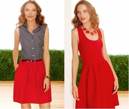 wear bold red in spring