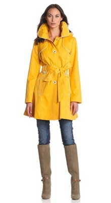 Jessica Simpson Womens Piped Trench