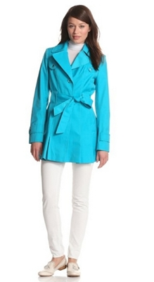 Via Spiga Womens Womens Water-Resistant Single-Breasted Trench Coat