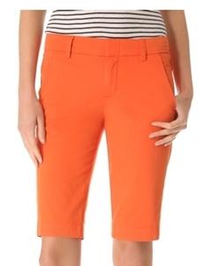 Vince Side Buckle Bermuda Shorts Orange