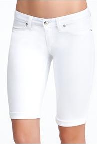 White Cuff Bermuda Short