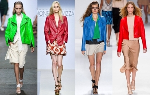 Revive Your Bright Colored Leather Jacket for Summer