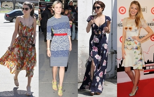 29519188916 Celebrities Jumpstart Their Summer with Printed Dresses
