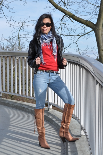 how to wear brown cowboy boots women
