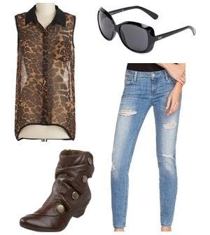 skinny jeans with ankle boots