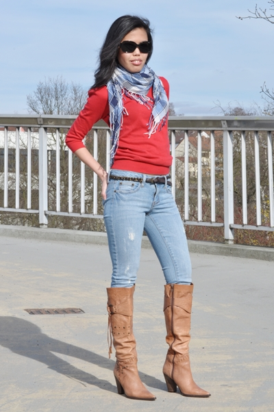My Outfit Brown Cowboy Boots For Women Creative Fashion