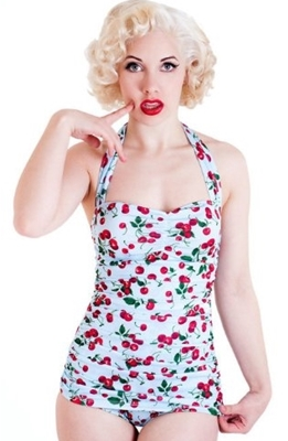 50s Pin Up One Piece Swimsuit