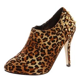 Aria Leopard Studded Back Midi Shoe Boot
