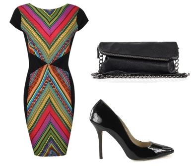 Bodycon Aztec Print Dress