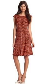 Cap Sleeve Printed Dress