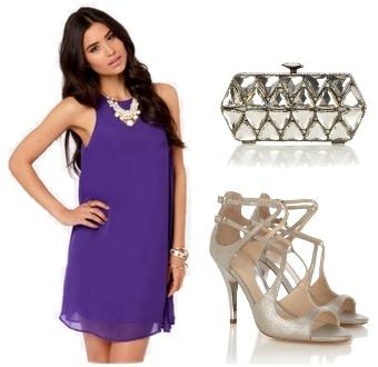 Chiff-on purple dress