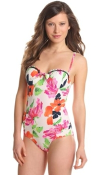 Floral Print Swimsuit Seafolly Womens Rio Bustier Maillot