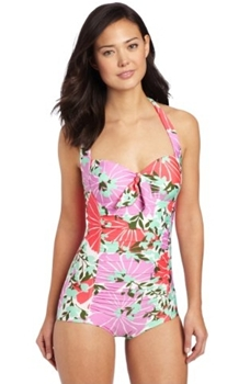 Floral Print Swimsuit One-Piece