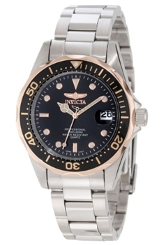 Invicta Black Dial Stainless Steel Watch