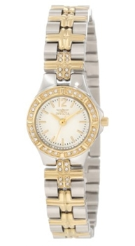 Invicta Crystal Accented Stainless Steel Watch