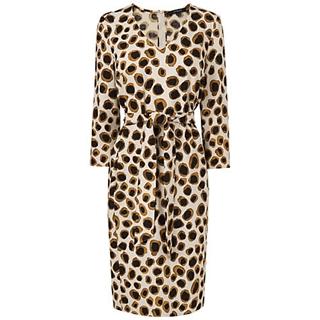 Jaeger Circle Leopard Print Easy Shift Dress