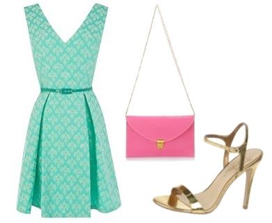 Oasis Jacquard Dress