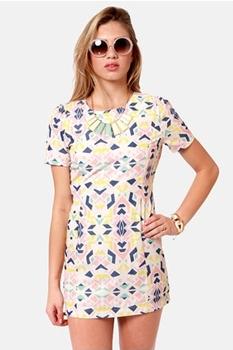 Shape-erds Pie Backless Print Dress