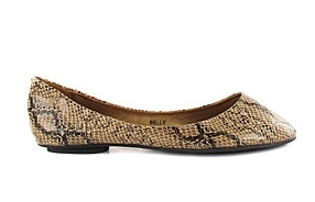 Snake Skin flat Shoe