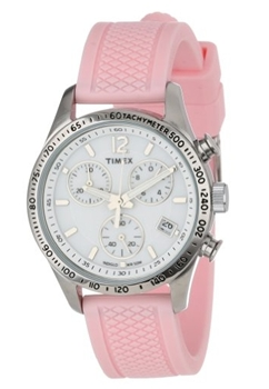 Timex Womens Pink Silicone Strap Watch