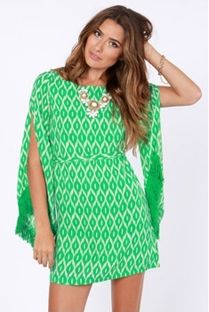 Totally Twiggy Green Print