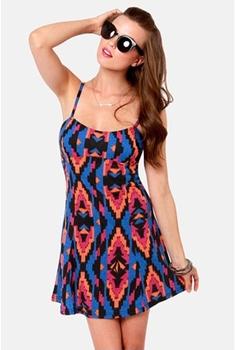 Volcom V.Co Crush Tribal Print Dress