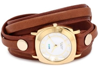 Wraps Brown Washed Layered Odyssey Case Watch