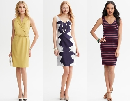 banana republic sheath dresses