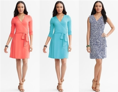 banana republic wrap dresses