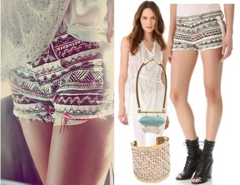 bohemian cutoff shorts