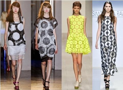 circle print dresses