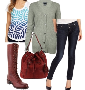 lace up tall boots with skinny jeans