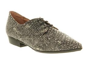 snake print lace up shoe