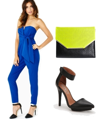Blue Elegant Summer Jumpsuit