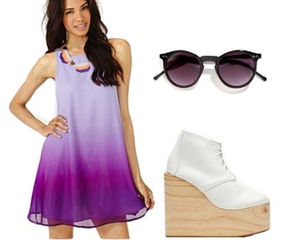 Lavender Dusk Fade Dress
