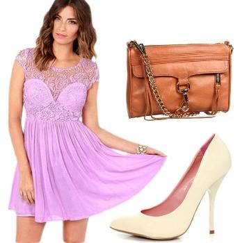 Lavender Lace Party Dress