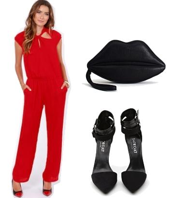 Red Elegant Summer Jumpsuit