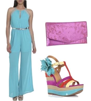 Turquoise Elegant Summer Jumpsuit