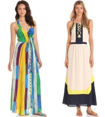 color block maxi dresses