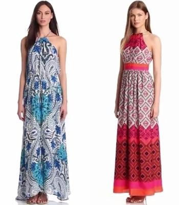 halter tie maxi dresses