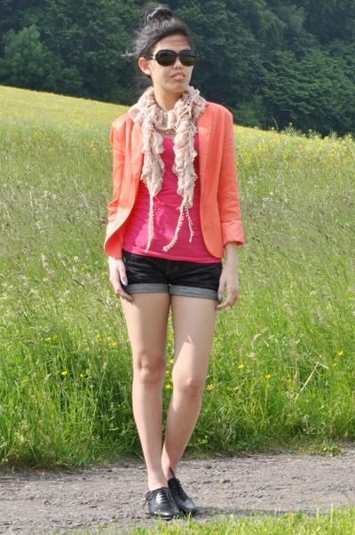 styling a bright orange jacket