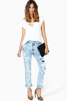 Breakup Shredded Jeans