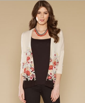 Catalina Printed Cardigan